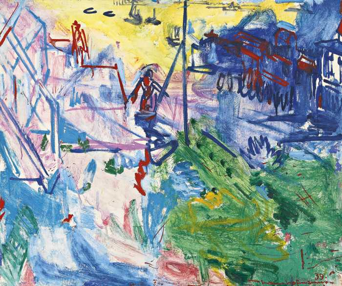 Hans Hofmann-Afternoon On The Harbor-1939