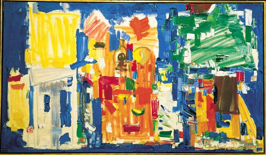 Hans Hofmann - Studio No. II in Blue, 1954 - Image via pinterestcom