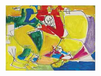 Hans Hofmann-The Face-1944