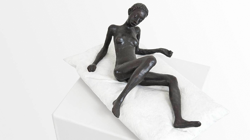 Hans Scheib - The Bed from 2011 at Mimesis Bronzes