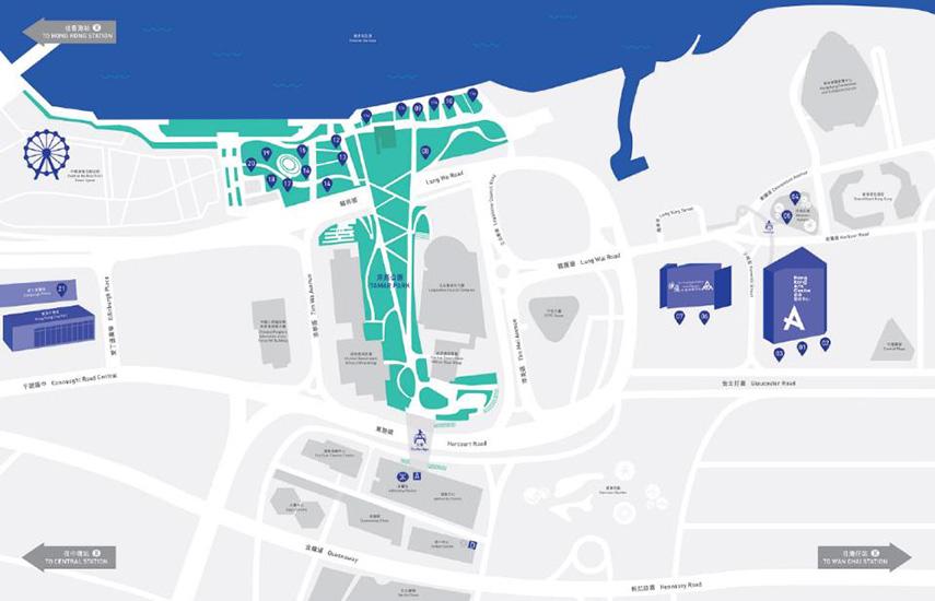 Harbour Arts Sculpture Park Map 2018