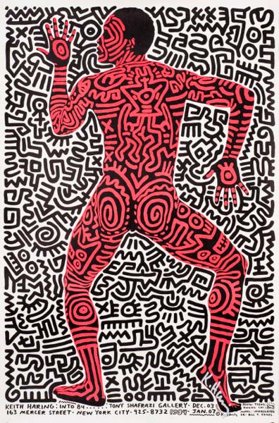 Keith Haring-Keith Haring : Into 84 - Tony Shafrazi Gallery-1984