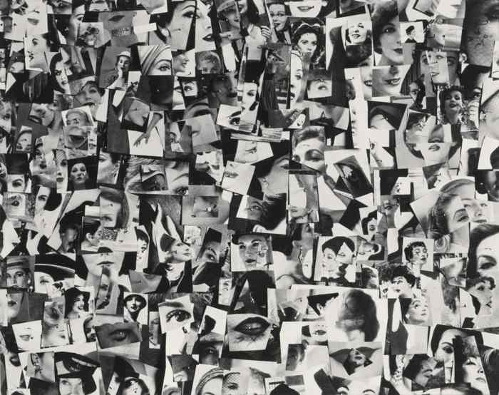 Harry Callahan-Collage Of WomenS Faces-1956