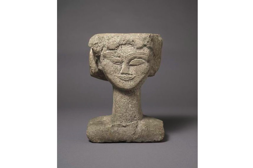 Amedeo Modiglilani - Head, c.1911, woman head modeled after hebuterne