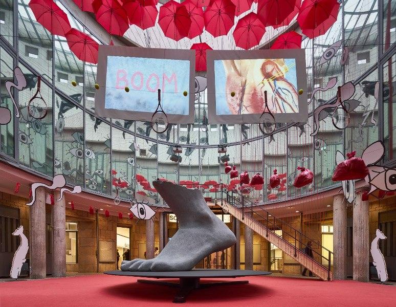 Heather Phillipson - EAT HERE, installation view at Schirn Kunsthalle, Frankfurt, 2016