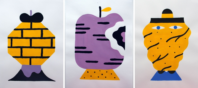 Hedof - Face, Apple and Blob (respectively), 2015 - Courtesy of Vertical Gallery