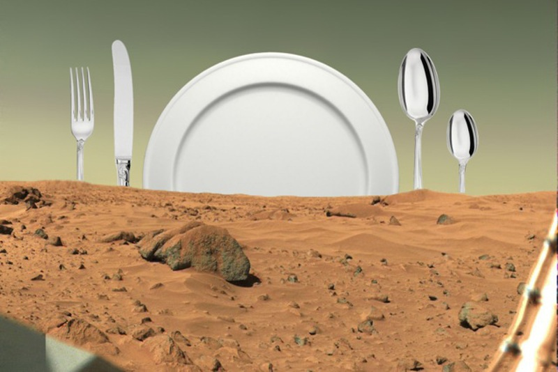 Heidi Neilson - Menu for Mars Supper Club, 2014-15, kitchen