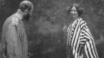 Heinrich Bohler - Gustav Klimt and Emilie Floge detail