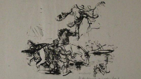 Heinrich Graf von Luckner – Pferdetränke, 1947 – Image courtesy of Sylvan Cole Gallery