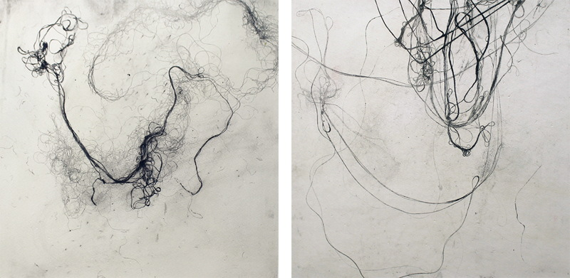 Helen Booth - Synapse 3 and Synapse 4, I Can Feel Them Moving Further Away From Me, 2014
