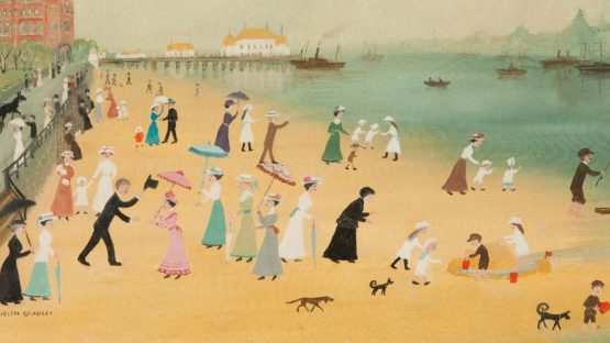 Helen Bradley - One Summer's Day We Went on a Trip to New Brighton,1972 (Detail) - Copyright the artist's estate