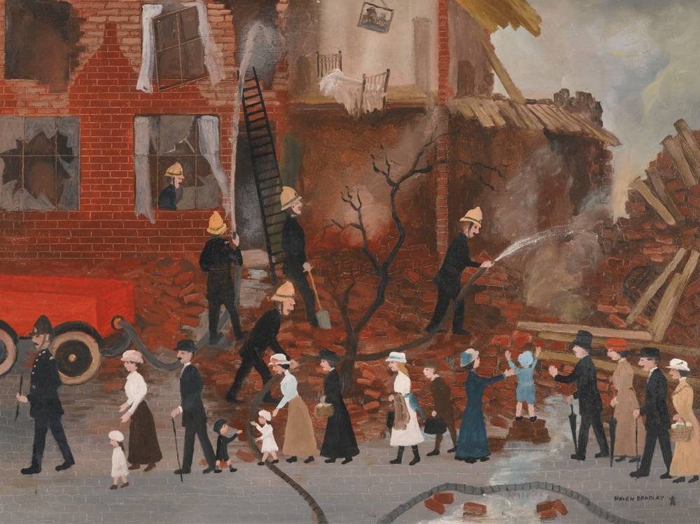 Helen Bradley-The Bombing Of The Seven Sisters Road-