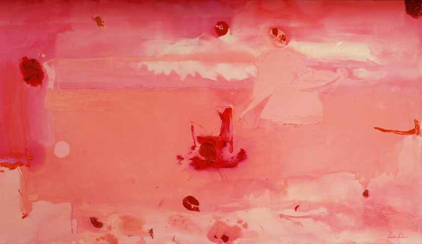 Helen Frankenthaler' American works are mostly kept inside a museum