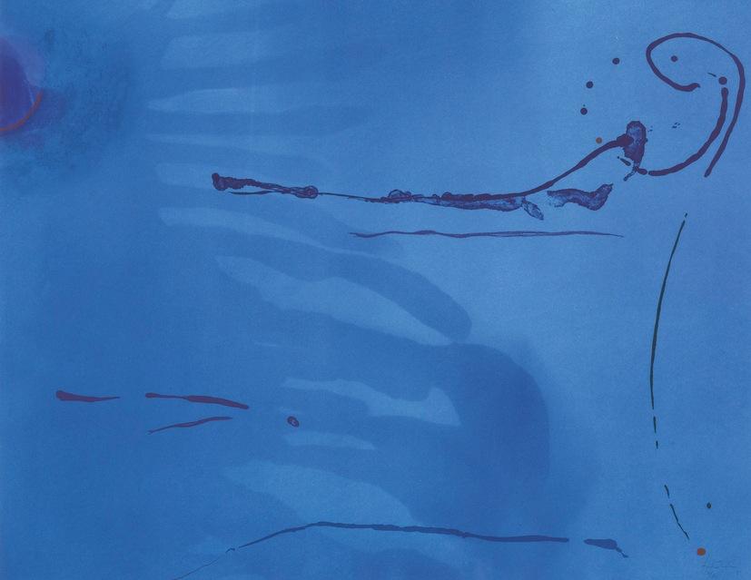 Helen Frankenthaler-Blue Current (Harrison 134)-1987