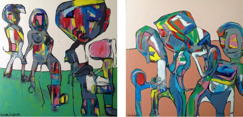 Helen Holmes - artist - Looking for Woody, 2014 (Left) / Waiting on a Friend, 2014 (Right)