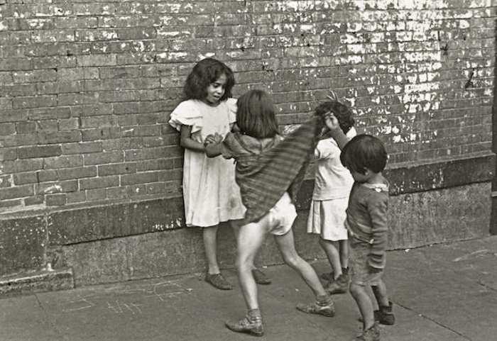 Helen Levitt-New York (Boy Lifting a Girl's Dress)-1942