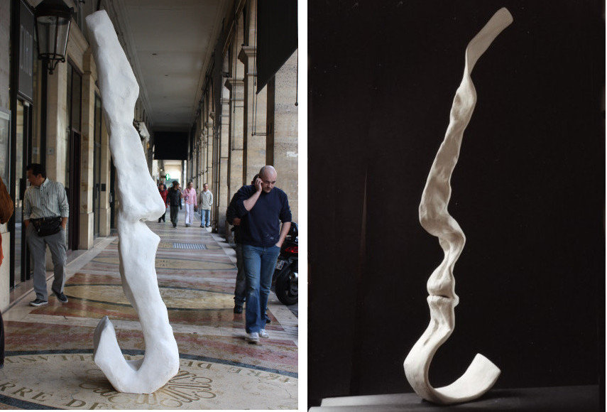 Helene Jousse - Monumentales (Left) ---- Visage-ruban (Right)