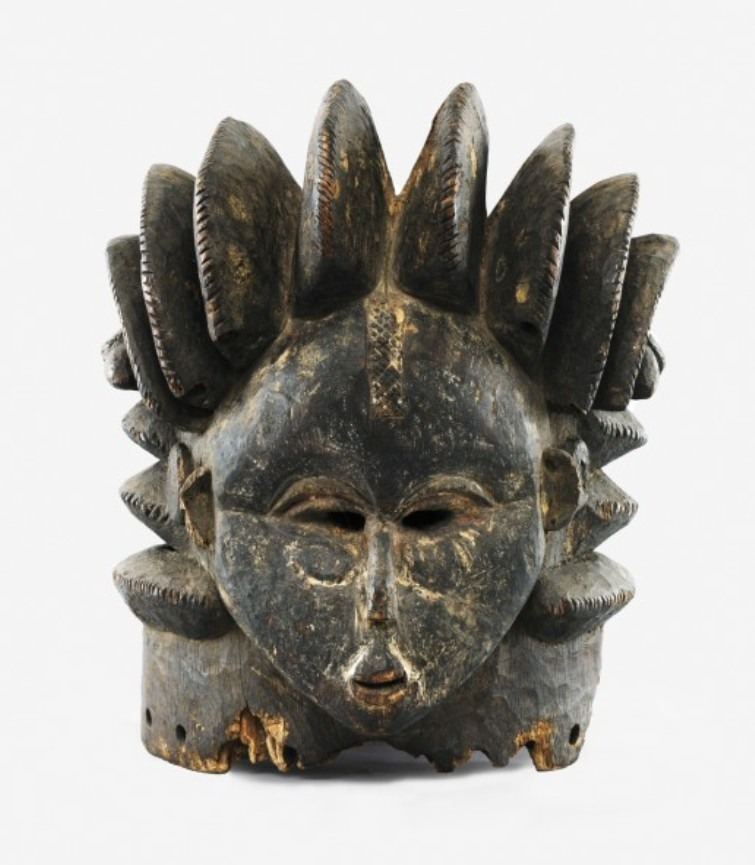 Helmet mask of the Sande society - Bundu