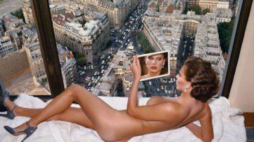 Helmut Newton - Bergstrom over Paris, Paris, 1976