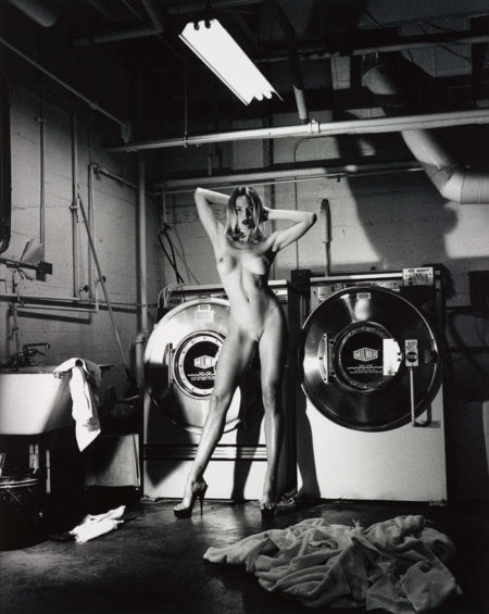 Helmut Newton-Domestic Nude III, In the Laundry Room of the Chateau Marmont, Hollywood-1992