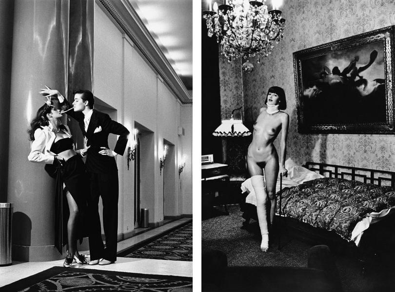 Helmut Newton - Jenny Capitan, Pension Dorian, Berlin, 1977 Helmut Newton - Retro Verseau, Vogue France, 1979