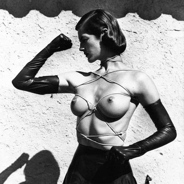 Helmut Newton - Tied-up torso, Ramatuelle, 1980