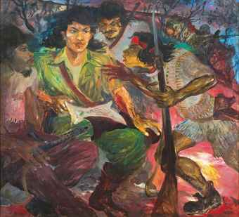 Hendra Gunawan-Gerilya Persiapan Penyerangan (Guerrillas Preparing For An Assault)-1960