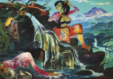 Hendra Gunawan-Mandi Di Pancuran (Bathing In The Shower)-1979