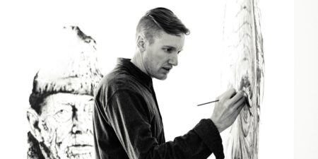 Hendrik Beikirch making art