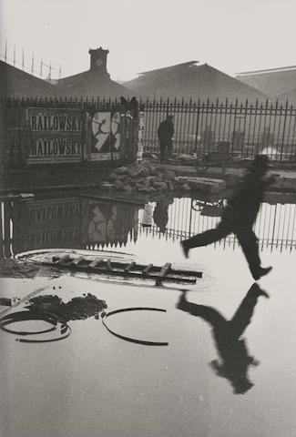 Henri Cartier-Bresson-Behind the Gare Saint Lazare, Paris-1932