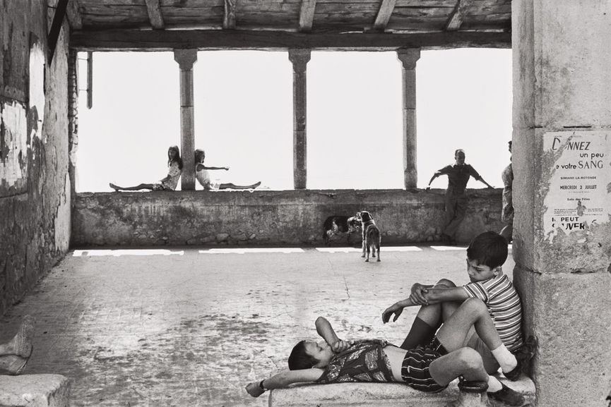 Henri Cartier-Bresson - Simiane-la-Rotonde, France, 1969, from Master Collection