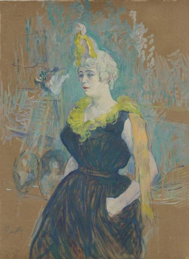 Henri de Toulouse-Lautrec-La Clownesse Cha-U-Kao-1895