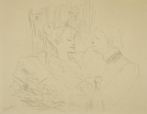 Henri de Toulouse-Lautrec-Souper a Londres-1896