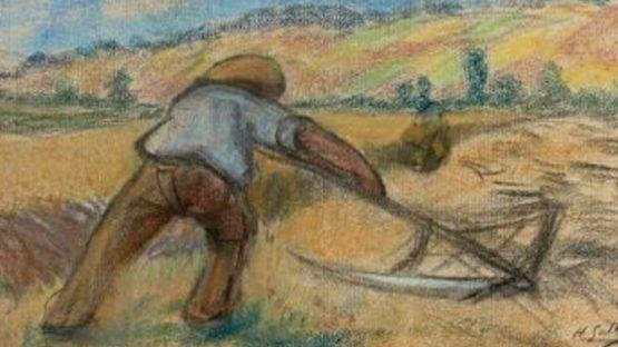 Henri-Gabriel Ibels - Le faucheur (Detail)