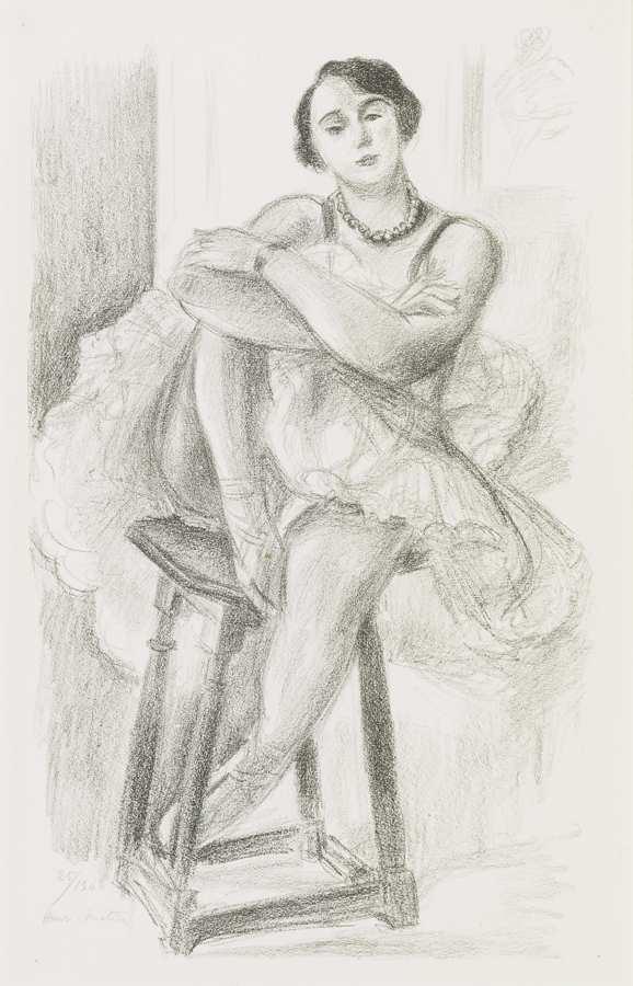 Henri Matisse-Danseuse Au Tabouret-1926