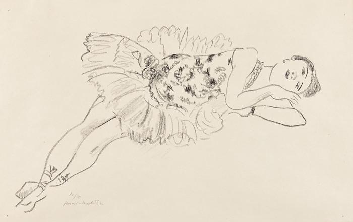 Henri Matisse-Danseuse etendue (Dancer Extended), from Dix Danseuses (Ten Dancers)-1927
