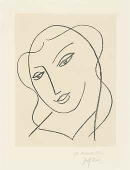Henri Matisse-Etude pour la Vierge 'tete voilee'-1951