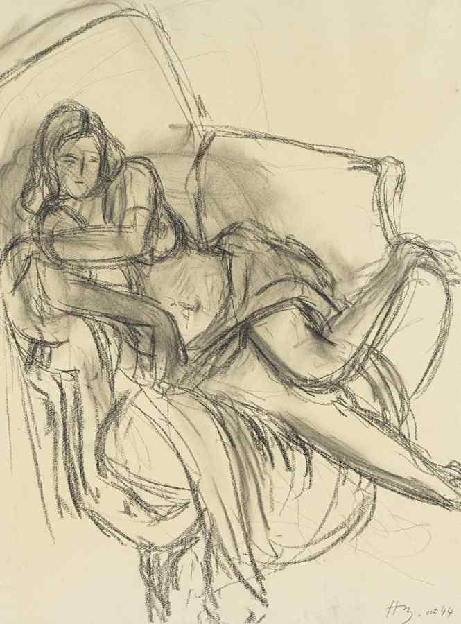 Henri Matisse-Femme Au Fauteuil-1944