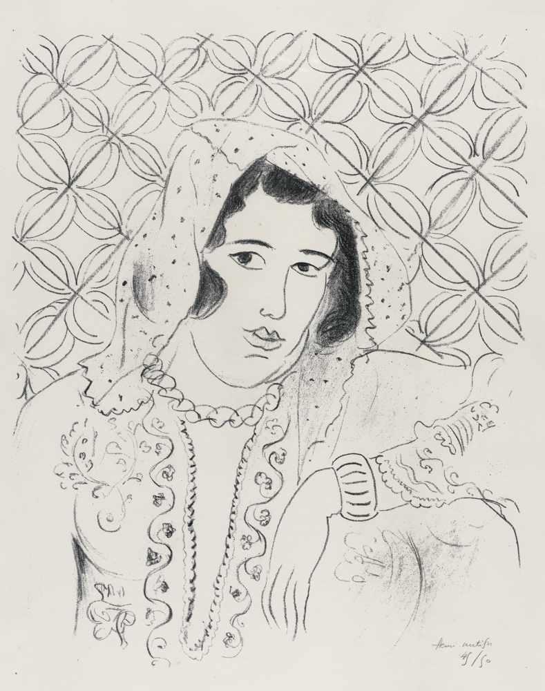 Henri Matisse-Figure Devant Tapa Africain-1929