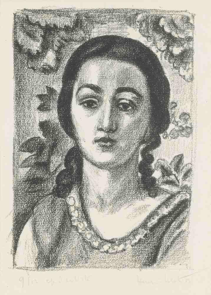 Henri Matisse-Jeune Fille Aux Boucles Brunes-1924