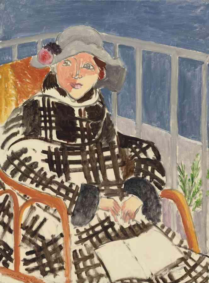 Henri Matisse-Mlle. Matisse En Manteau Ecossais-1918