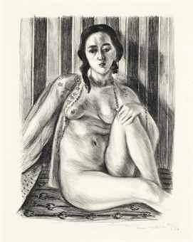 Henri Matisse-Nu assis a la chemise de tulle-1925
