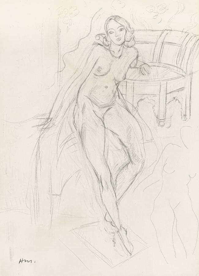 Henri Matisse-Odalisque Au Fauteuil Turc-1927