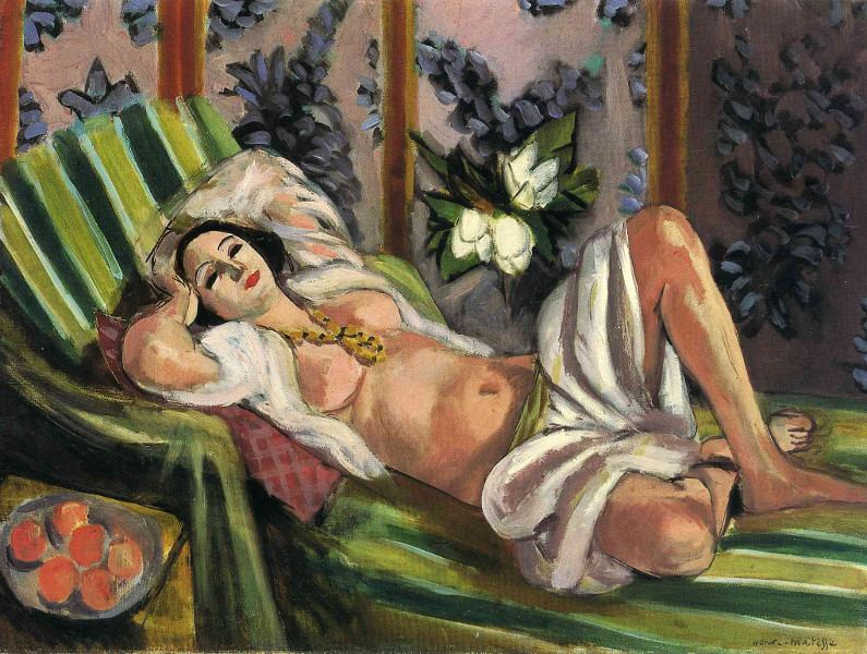 Odalisque Couchée Aux Magnolias, 1923, street work in New York