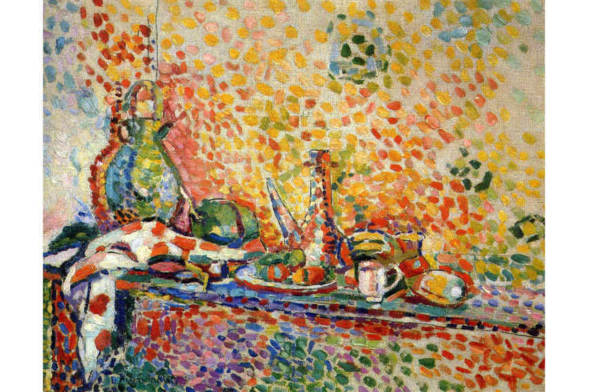 Henri Matisse - One of his paintings in Pointillism technique