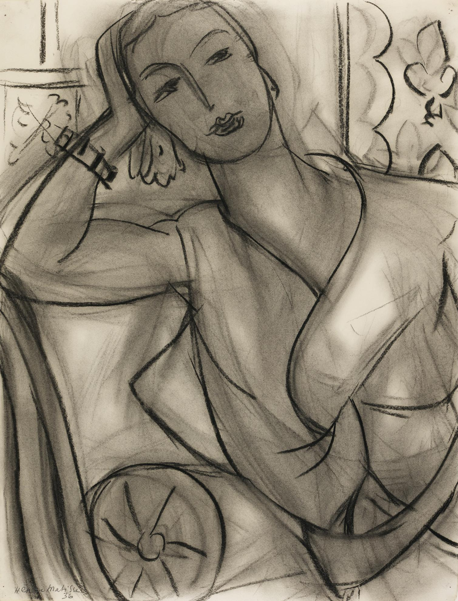 Henri Matisse-Portrait Of Mrs Hutchinson-1936