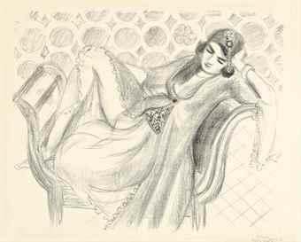 Henri Matisse-Repos sur la banquette-1929