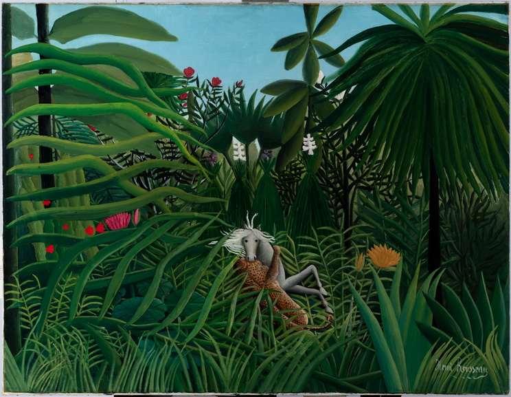 Henri Rousseau - Jaguar attack on a horse