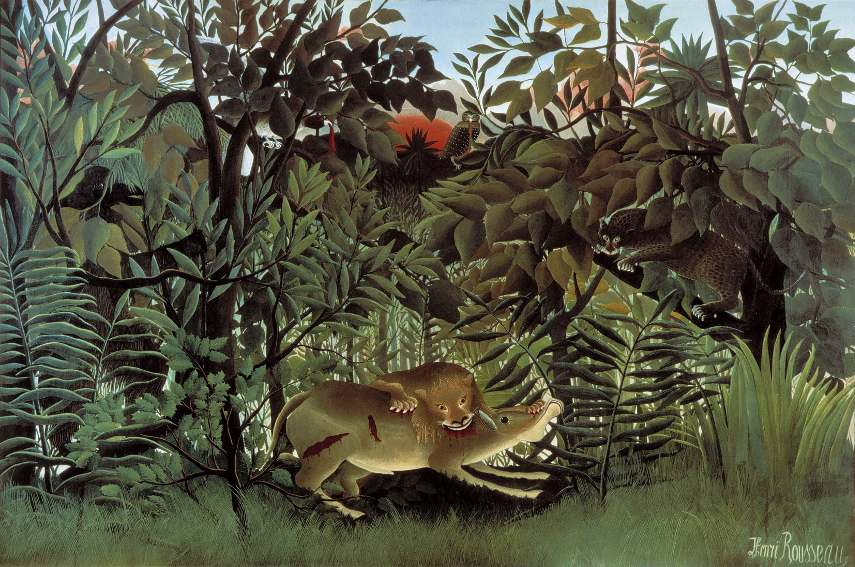 His tiger in the tropical jungle surprised most well known french landscape painters of post impressionism
