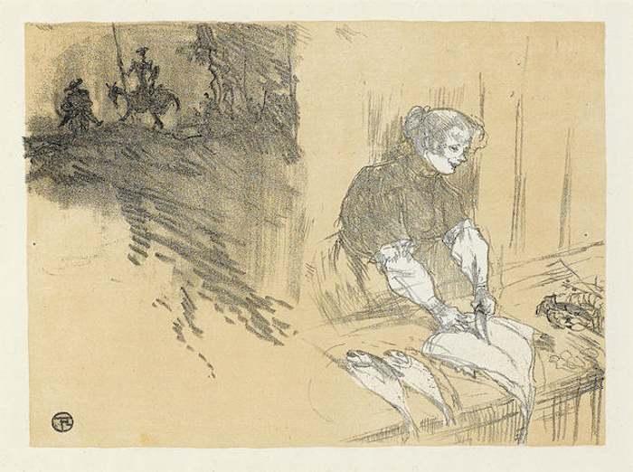 Henri de Toulouse-Lautrec-Couverture pour Les Courtes Joies-1897